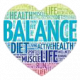 Healthy lifestyle heart graphic