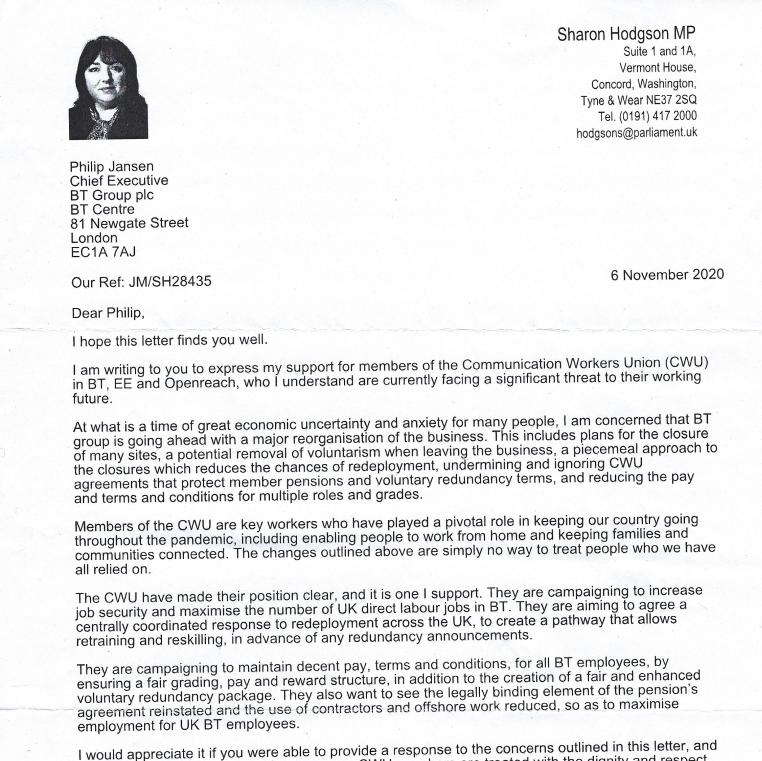 MP Lords Correspondence BT 1