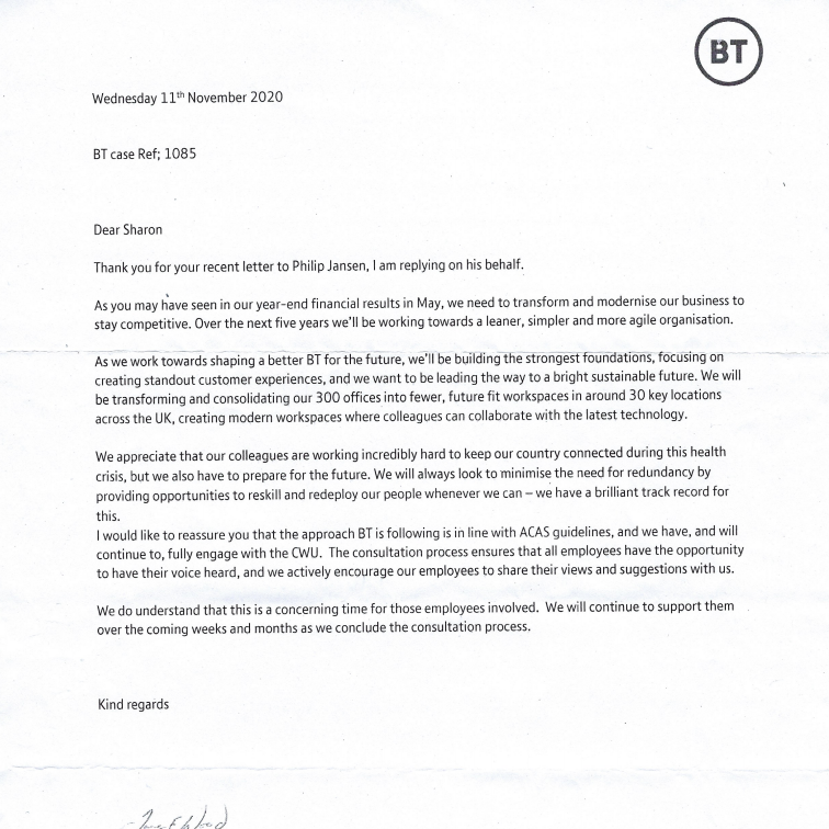 MP Lords Correspondence BT 2